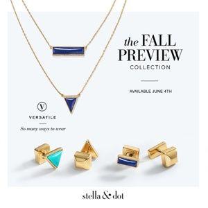 :: Stella & Dot Turquoise DejaVu Reversible Studs
